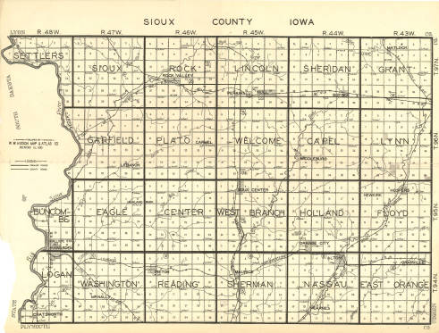 Sioux County Iowa Map.Digital Archives Of The Sioux County Libraries The Community
